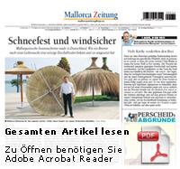 Mallorca Zeitung Strohschirme