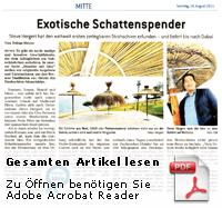 Strohschirm Bremer Anzeiger